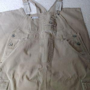 Tan colored bib overalls size 14